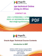 Oracle Apps Technical Online Training in Africa