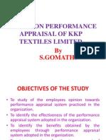 A STUDY ON PERFORMANCE APPRAISAL OF KKP TEXTILES.pptx