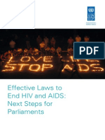 Effective Laws to End HIV and AIDS