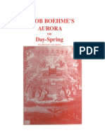 Jacob Boehme: The  Aurora or Day-spring: free Electronic Text