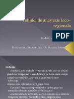 Tehnici de Anestezie loco-regionala