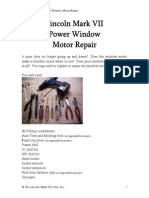 Power Window Motor Repair