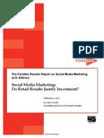 Social Media Marketing u.s. 2011 Foresee