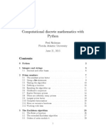Computational discrete mathematics with Python
