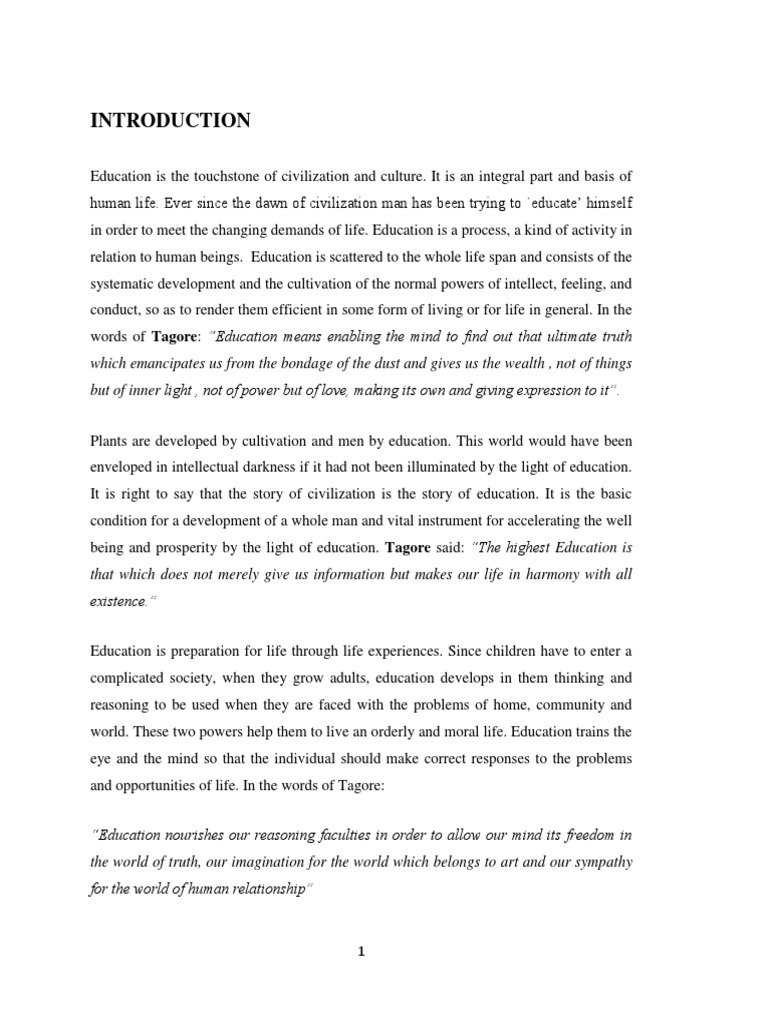 Essay For High School Application Contribution Of Rabindranath Tagore In The Field Of Education And Its  Relevance In The Modern World  Rabindranath Tagore  Philosophy Of  Education How To Write A Proposal For An Essay also Comparison Contrast Essay Example Paper Contribution Of Rabindranath Tagore In The Field Of Education And  Essay Com In English