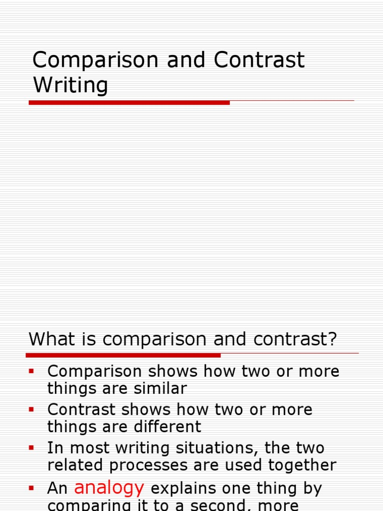 what is contrast and comparison