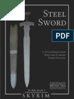 Skyrim Steel Sword Papercraft