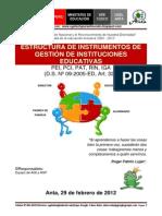 Instrumentos de Gestion Ugel Paruro 2012