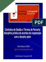 Direito Administrativo - Termo de Parceria e Contrato de Gestão