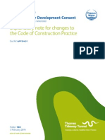 Explanatory note for changes to the Code of Construction Practice