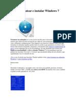 Cómo formatear e instalar Windows 7