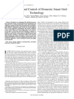 Management and Control of Domestic Smart Grid Technology