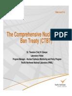 The Comprehensive Nuclear-Test- Ban Treaty (CTBT)