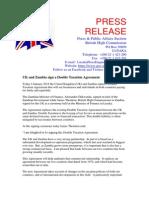 UK/Zambia Double Taxation Agreement Press Release