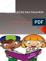CONCEITOS BÁSICOS EM SEMÂNTICA
