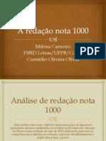 A redação nota 1000