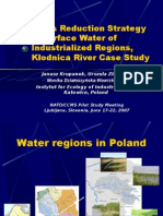 POP's Reduction Strategy in Surface Water of Industrialized Regions, Kłodnica