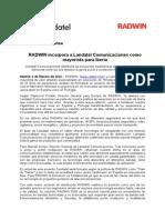 Radwin Incorpora a Landatel como Mayorista en Iberia