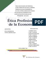 Trabajo Etica Profesional de La Economia