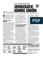 UCU Left General Election Leaflet 2014