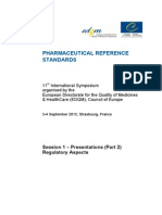 Regulatory Guide on Reference Standard