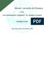 Mozart Violino Primo