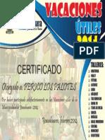 Certificado Vacaciones Útiles
