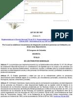 Ley 361 de 1997 Integracion Personas Con Limitacion