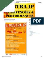 Mostra Nacional de Vídeos Intervenções e Performances