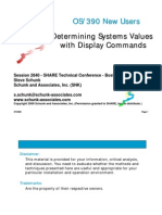s2840ssa-Determining Systems Values With Display Comands