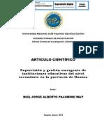 SUPERVISIÓN Y GESTIÓN EMERGENTE DE INSTITUCIONES EDUCATIVAS DEL NIVEL SECUNDARIO EN LA PROVINCIA DE HUAURA (artículo)