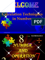 Calculation Techniques in Numbers