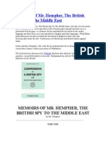 Memoirs of a British Spy in Middle East
