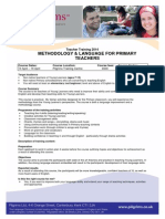 Methodology and Language for Primary Teachers