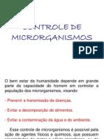 Controle de Microrganismos Nol Ambiente