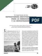 La Importancia de Los Repositorios Institucionales Para La Educacion y La Investigacion(1)