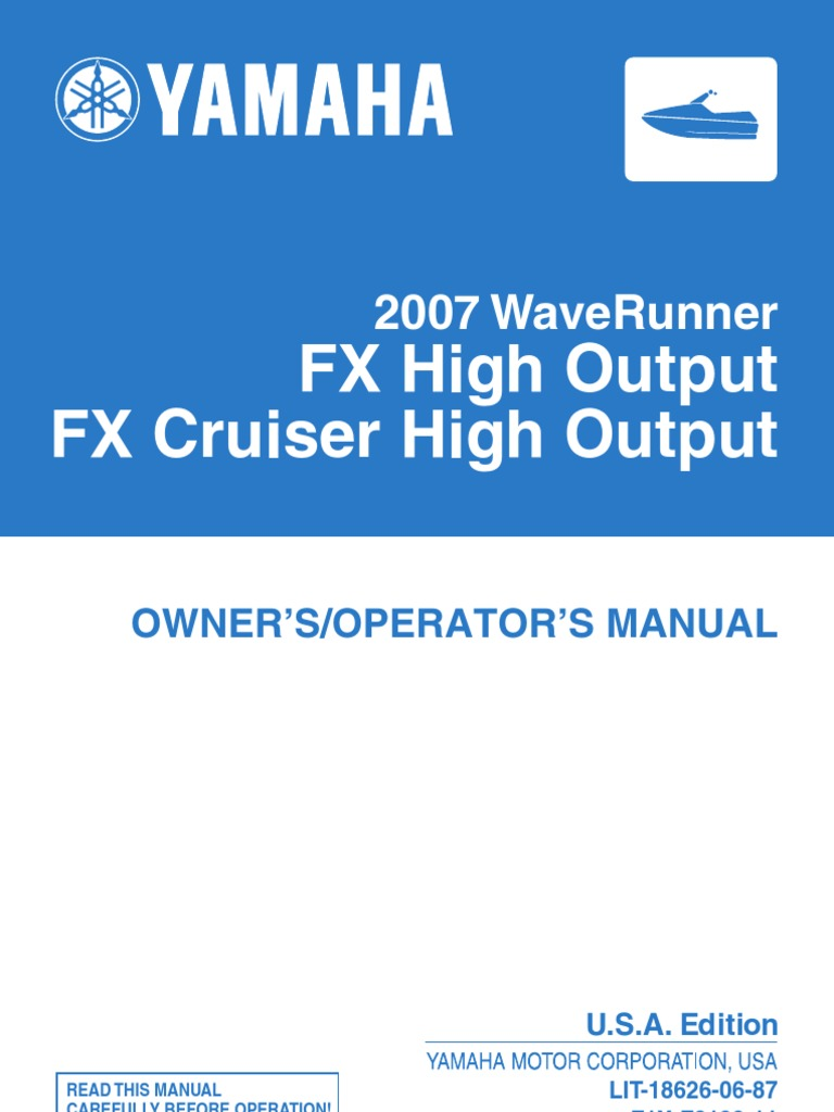Zero Owners Manual Fx Yamaha Waverunner Schematics 2007 Wave Runner Ho Service Watercraft
