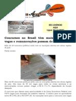 Concursos no Brasil têm mais de 40 mil vagas e remunerações passam de R$ 20 mil