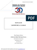 Manual de gestion de la calidad VW Navarra ESpaña
