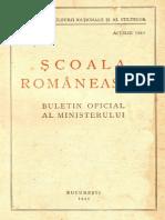 Scoala românească, nr.1, aprilie 1942
