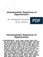 Homoeopathic Repertory of Hypertension