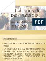 DIEZ CRITERIOS DE DON BOSCO PARA EDUCAR HOY A LOS HIJOS.pptx