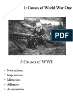 unit 5 notes 1 causes of ww1