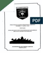 Perda Provinsi Lampung 5 2011 Pengawasan & Pengendalian Kelebihan Muatan Angkutan Barang