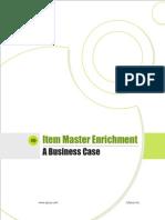Business Case - Item Master Enrichment