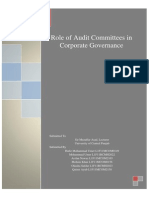 Role of Audit Committees in Corporate Governance