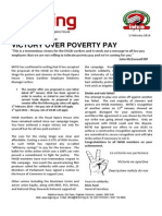 Victory over poverty pay