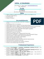 Gopal's Resume 2015