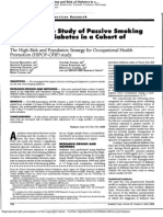 A prospective study of passive smoking and risk of diabetes in a chort of workers