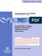 ANSI 50.00.01-1975 (R2002) - Compatibility of Analog Signals for Electronic Industrial Process Instruments